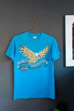 Image of 1989 Harley Davidson Firey Eagle Shirt