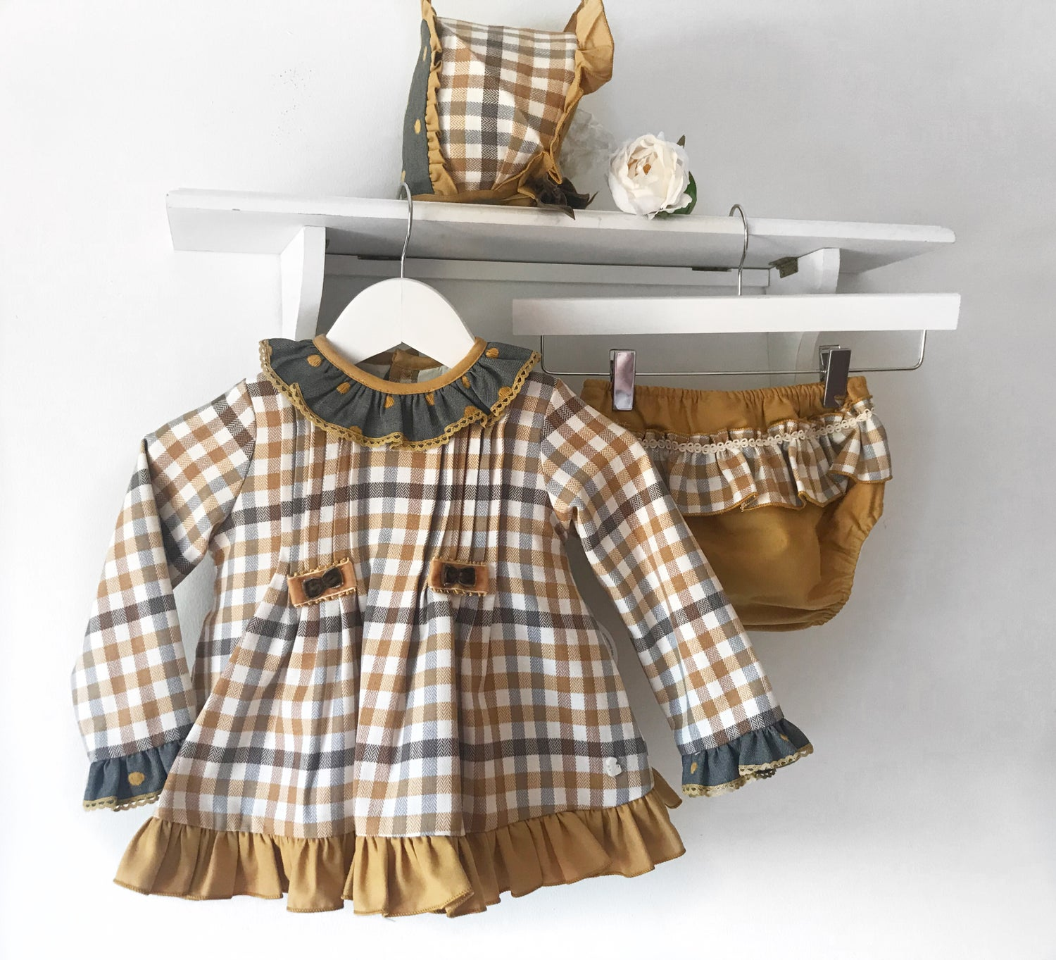 Image of Abuela Tata Mustard dress set