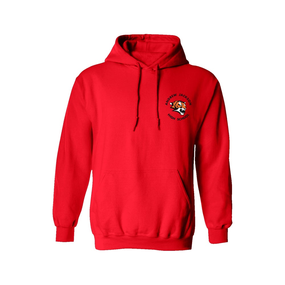 Image of RED HOODIE SWEATER