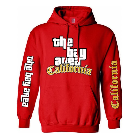 Image of The Bay Area GTA Hoodie Gold Edition (Red)