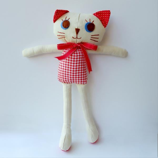 Image of Kitty Cat Handmade Cloth Doll-Rosie