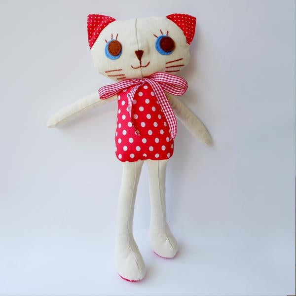 Image of Kitty Cat Handmade Cloth Doll-Lily