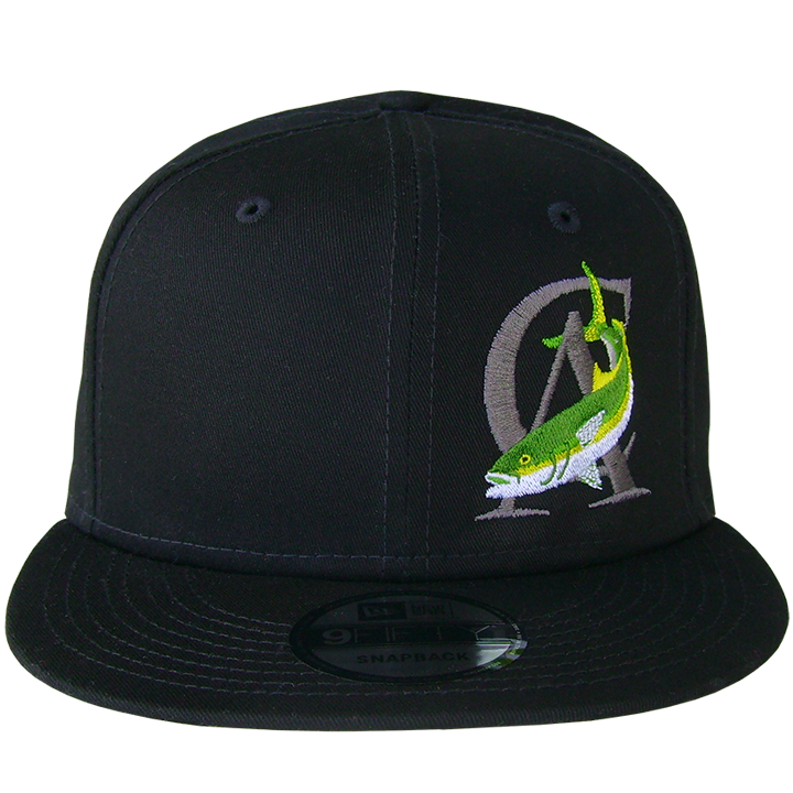 Image of CA-Yellowtail Snap Back (black)