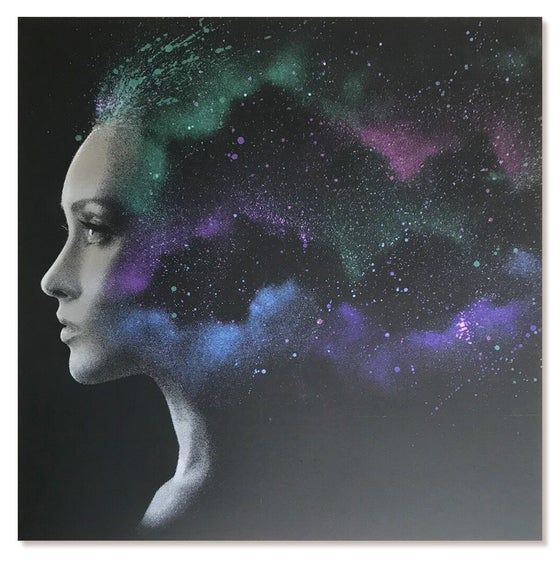 "Image of JOHN DOE - ""NEBULA 3.1"" - HAND FINISHED SCREENPRINT LTD EDITION 75 - 40CM X 40CM"
