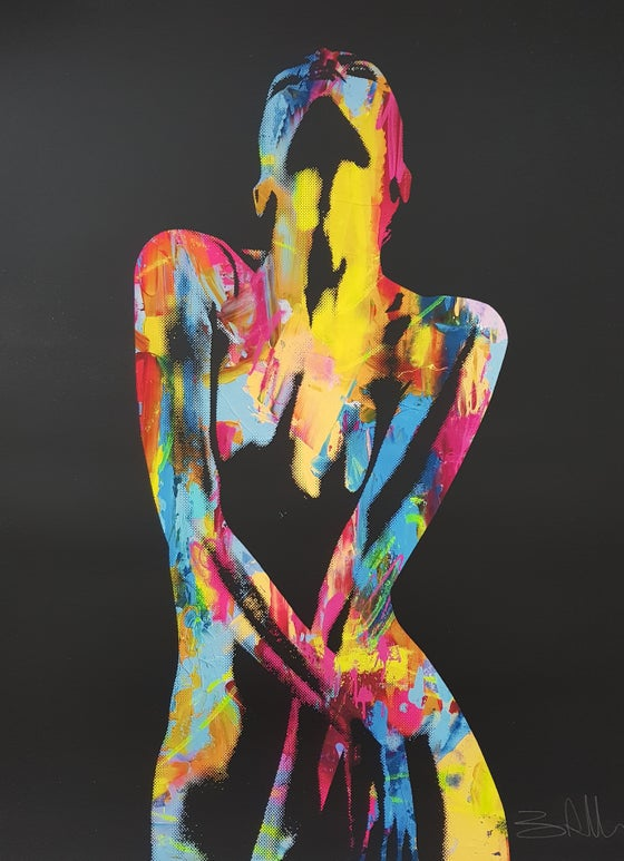 "Image of BEN ALLEN - ""NUDE GRAFFITI"" - SCREENPRINT LTD EDITION 30 - 60CM X 70CM"