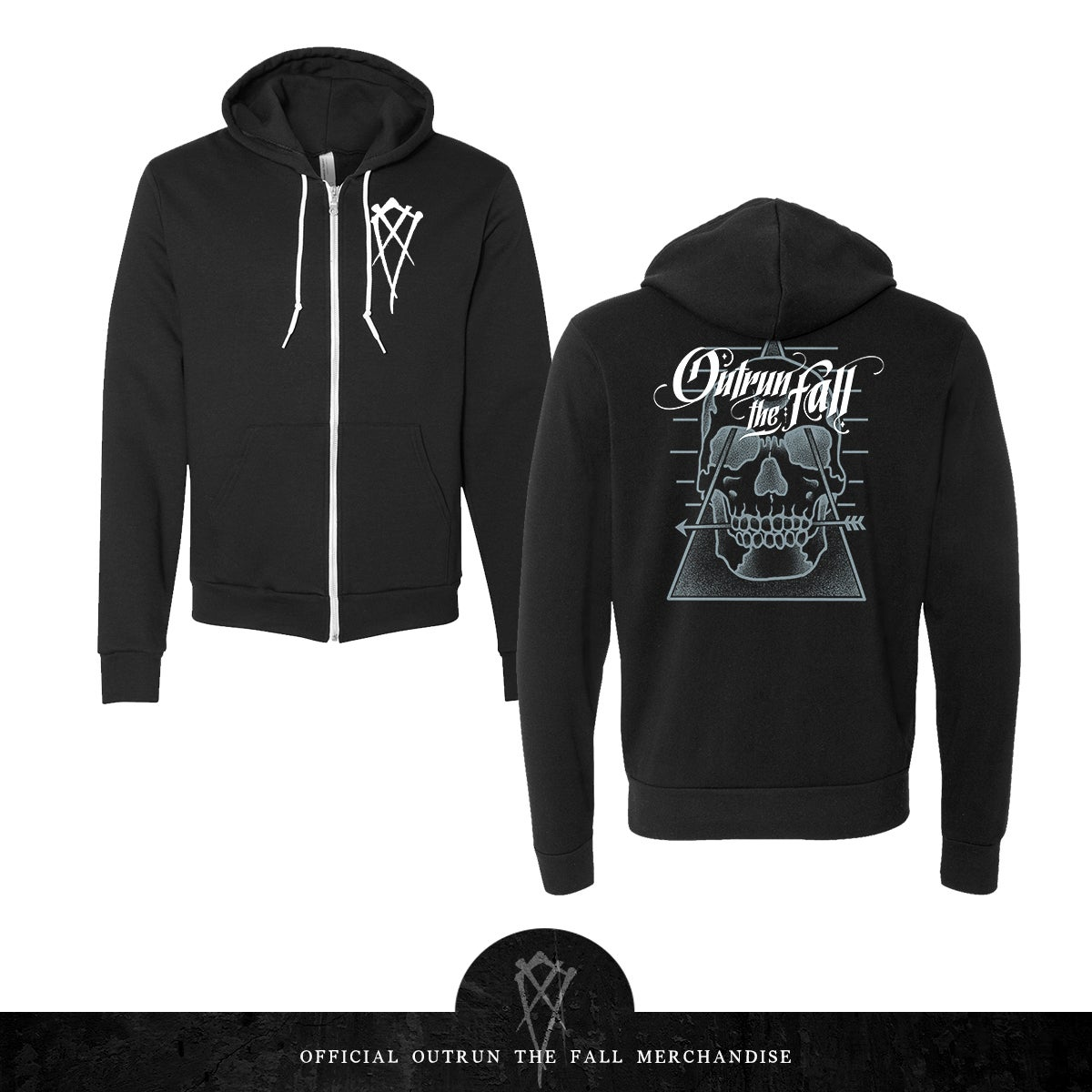 Image of Outrun The Fall | Biting The Bullet  Zip Up Hoodie