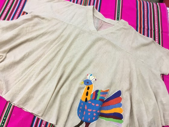 Image of Poncho top with otomi embroidery💖