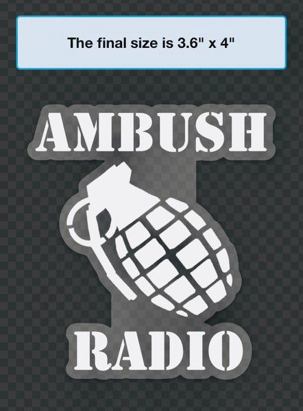 Image of Ambush Radio Heavyweight Weatherproof Vinyl Decal