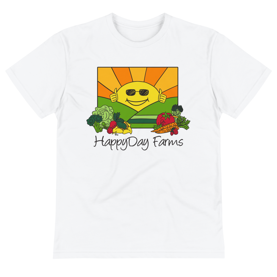 Image of Happy Day Farms UNISEX T Shirt Recycled PolyPET
