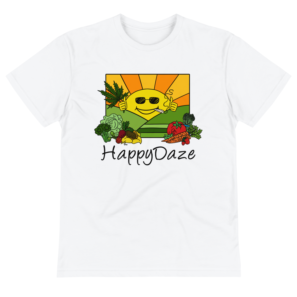Image of Happy DAZE UNISEX T shirt Recycled PolyPET