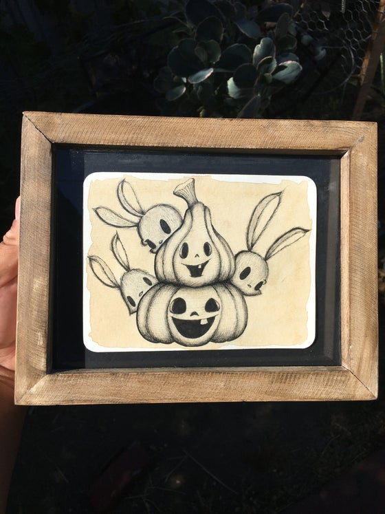 "Image of ""Pumpkin Bunnies"" original"