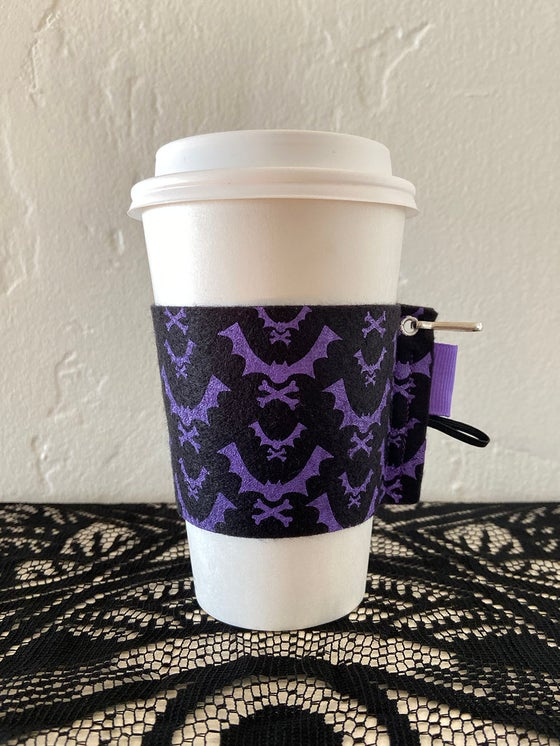 Image of Bat + Crossbones - Black Cup Kozy
