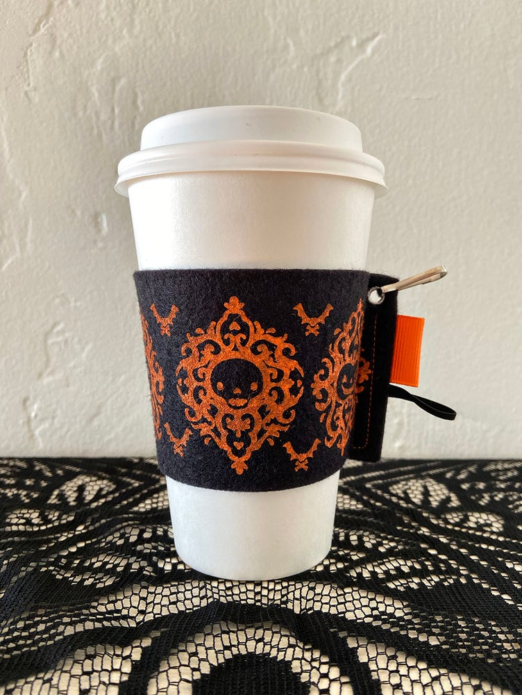 Image of Halloween Damask Cup Kozy