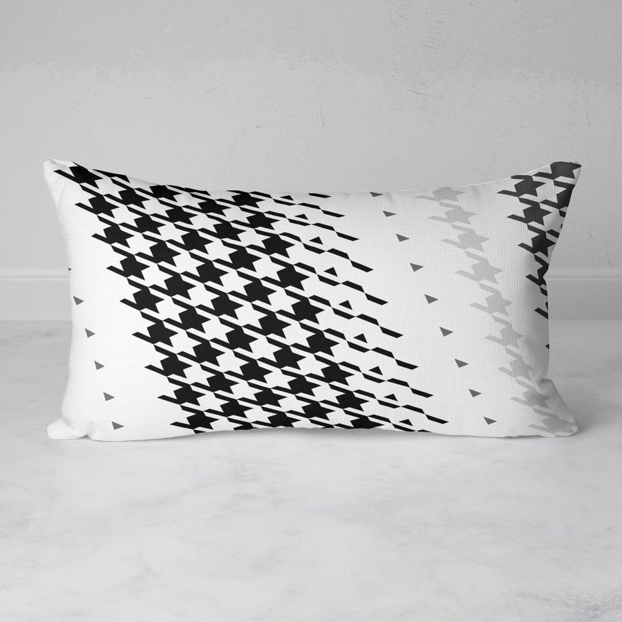 Image of  Modern Houndstooth Rectangular Throw Pillow