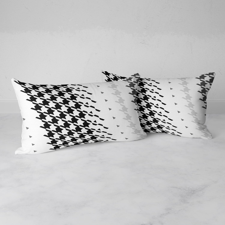 Image of  Modern Houndstooth Rectangular Throw Pillow