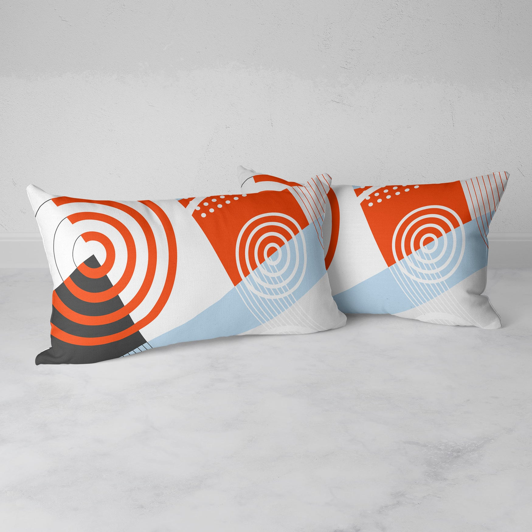 Image of Ripple Effect Rectangular Throw Pillow