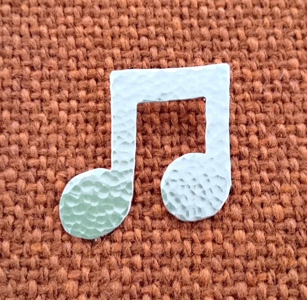 Image of Musical note brooch, necklace or earrings.