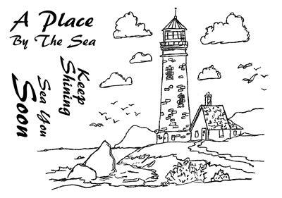 Image of Dennis Lewan Stamp #1 - Lighthouse