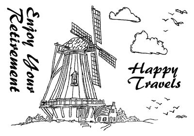 Image of Dennis Lewan Stamp #2 - Windmill