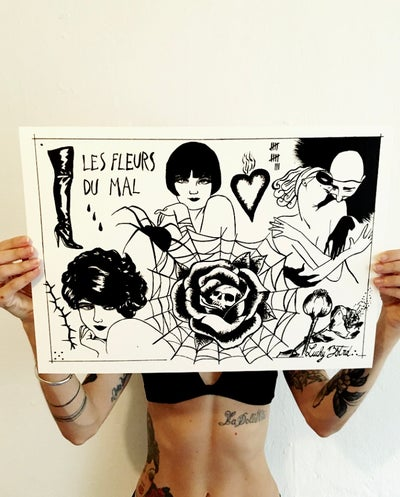 Image of Les Fleurs du Mal // 32 x 45cm limited edition of 10