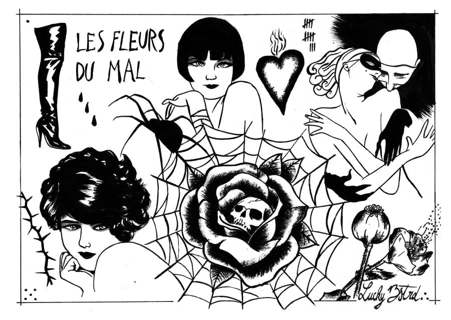 Image of Les Fleurs du Mal // 32 x 45cm limited edition of 10