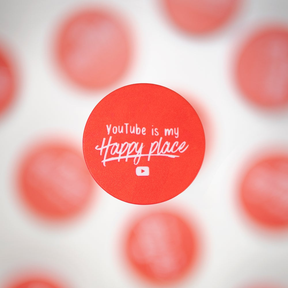 Image of Youtube Is My Happy Place Pop Socket