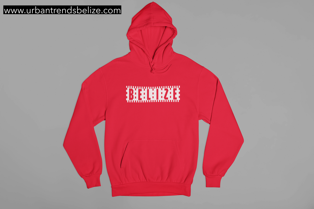Image of BELIZE- CHECKERED LOGO HOODIE/CREWNECK