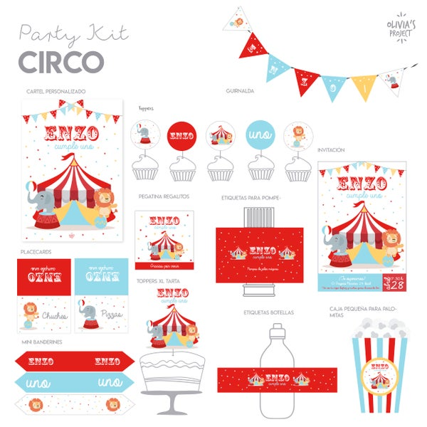 Image of Party Kit Circo Impreso