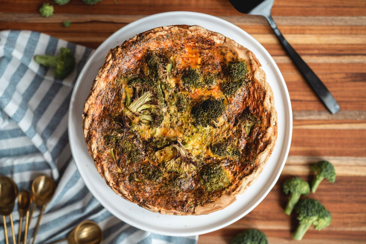 Image of Broccoli + Cheddar Quiche