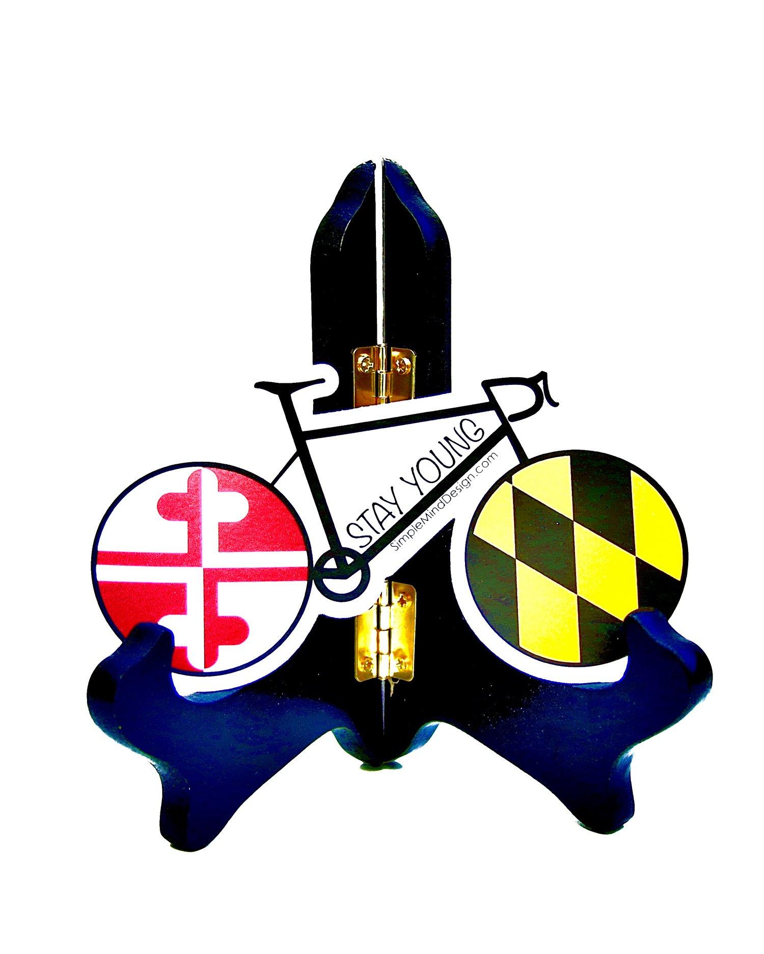 Image of Maryland Road Bike Sticker (White Background)