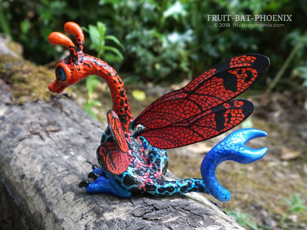 Image of Strawberry Poison Dart Dragonfly Dragon