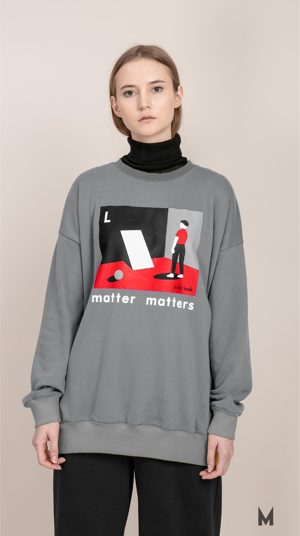 "Image of The ""L is for Look sweatshirt"" - Grey"