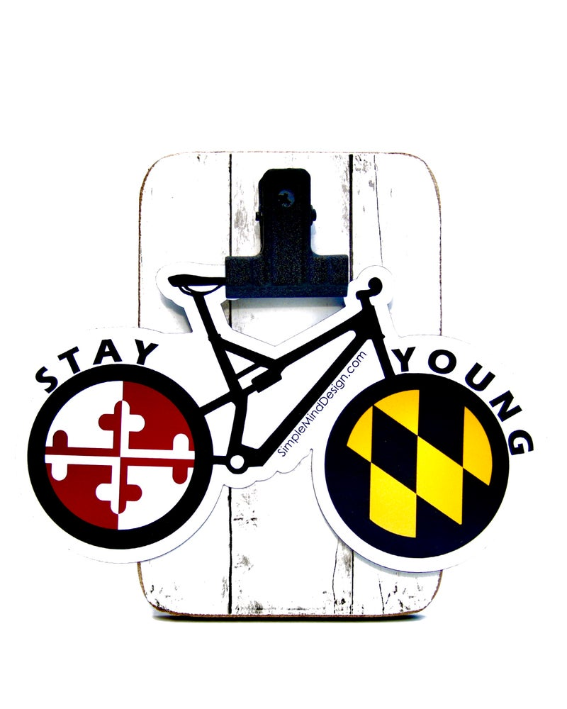 Image of Maryland Mountain Bike Sticker