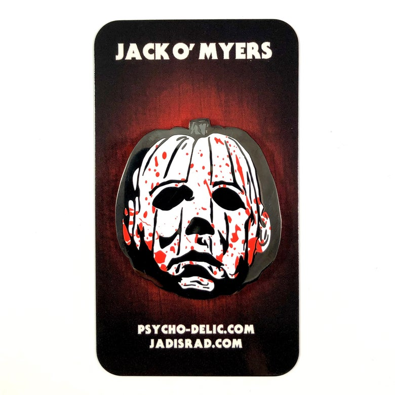 Image of Jack-O Myers Blood Splatter (Enamel Pin)