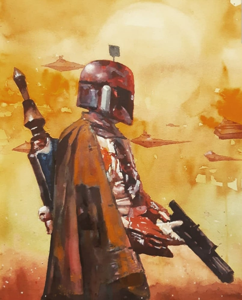 Image of Boba Fett prints