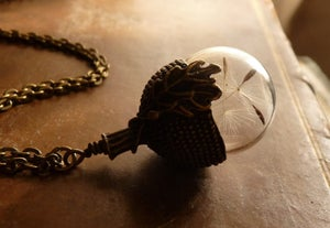 Image of Dandelion Seed Acorn Necklace