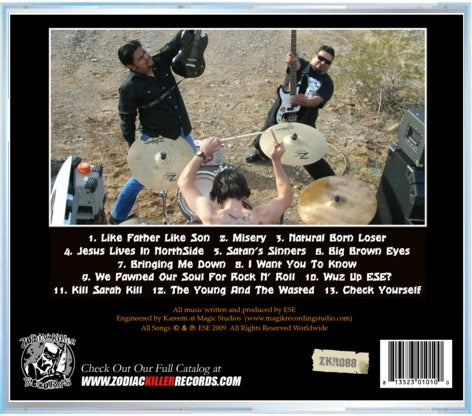 """Image of Ese """"Loud, Death, Chaos"""" CD"""