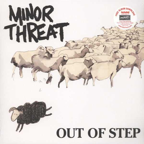 "Image of MINOR THREAT - ""Out Of Step"" 12"" EP"