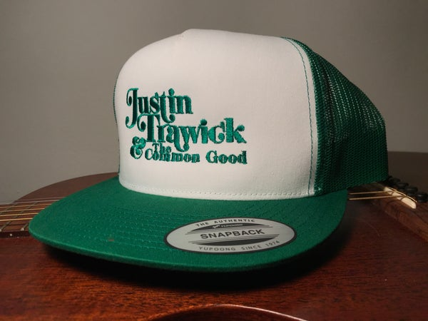 Image of Justin Trawick and The Common Good Embroidered Trucker Cap (Green)