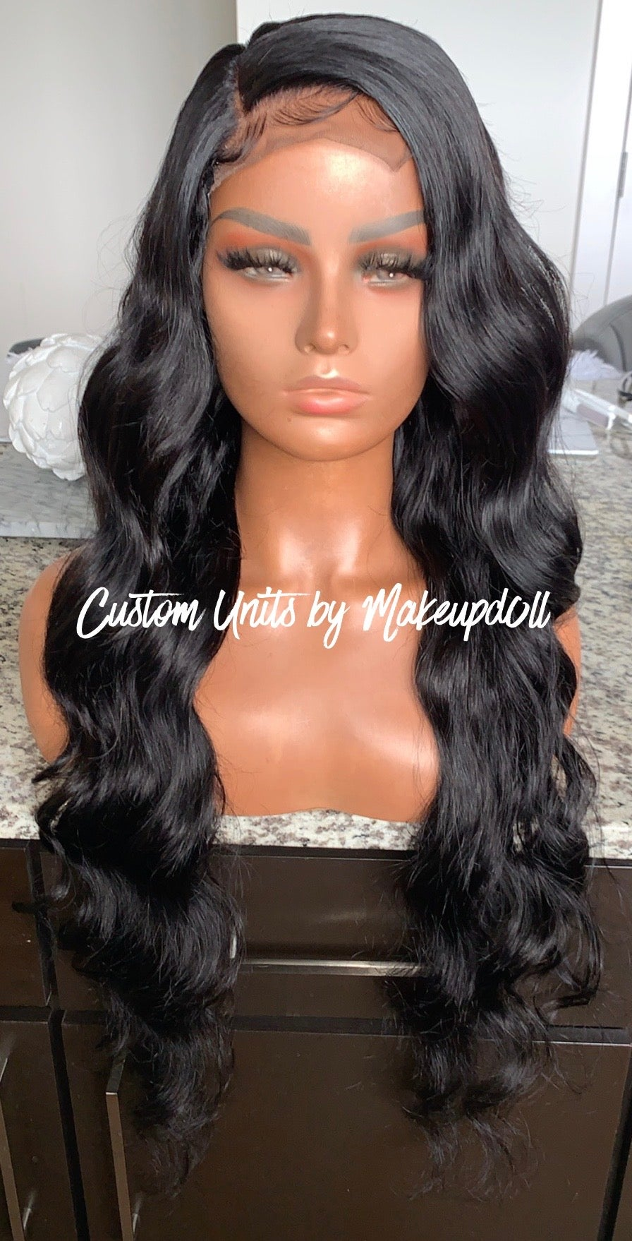 "Image of Peruvian Body Wave 28"" Custom Lace Closure Wig!"