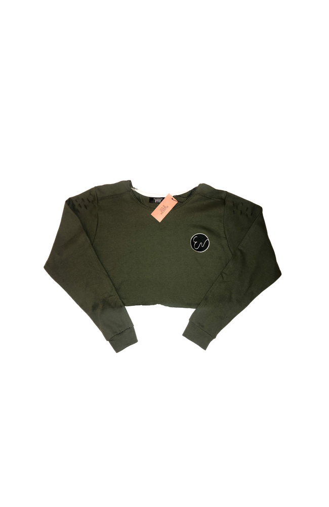 Image of CROP TOP (Olive Green)