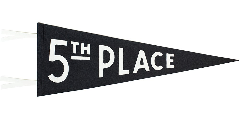 Image of 5th Place Handsewn Pennant