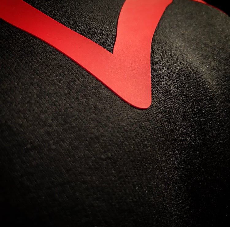"""Image of Black x Red """"Love...period!"""" Sweatsuit (unisex/MENs sizing)"""
