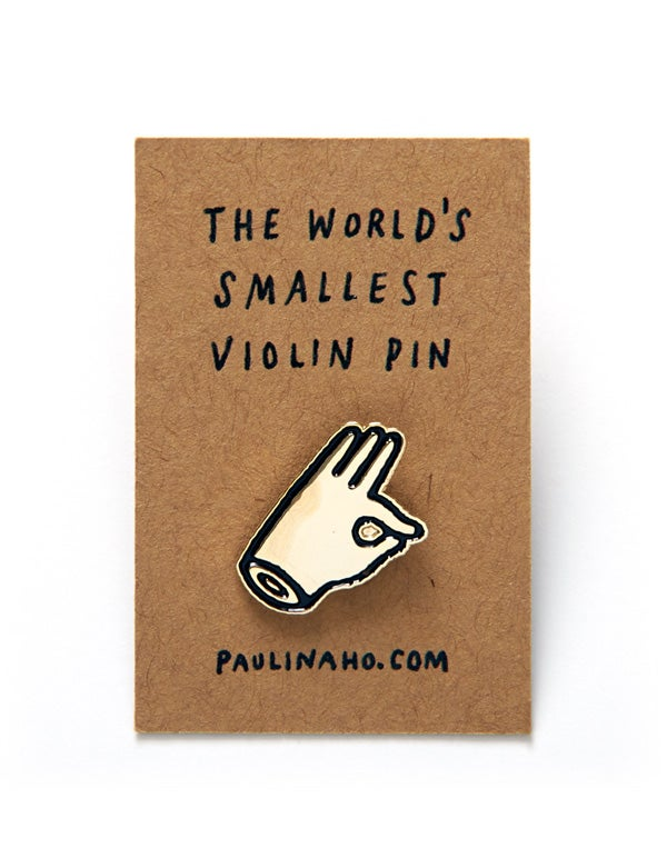 Image of The World's Smallest Violin Pin