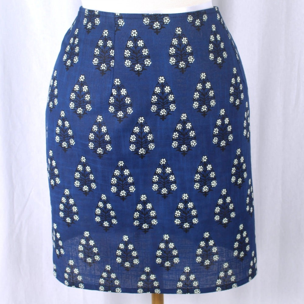 Image of Skirt - Trees Blue Short