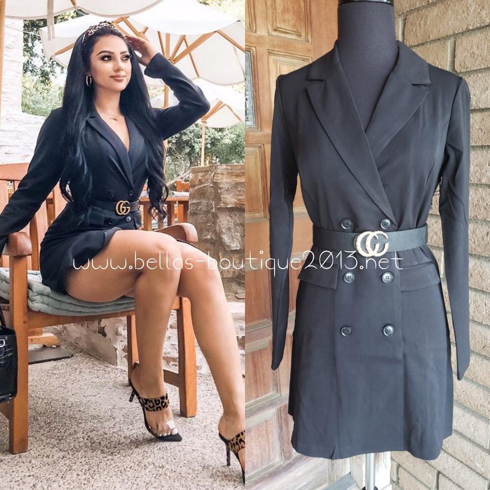 Image of Girl Boss Tuxedo Dress