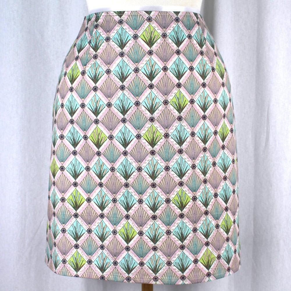 Image of Skirt - River Reeds Aqua Short