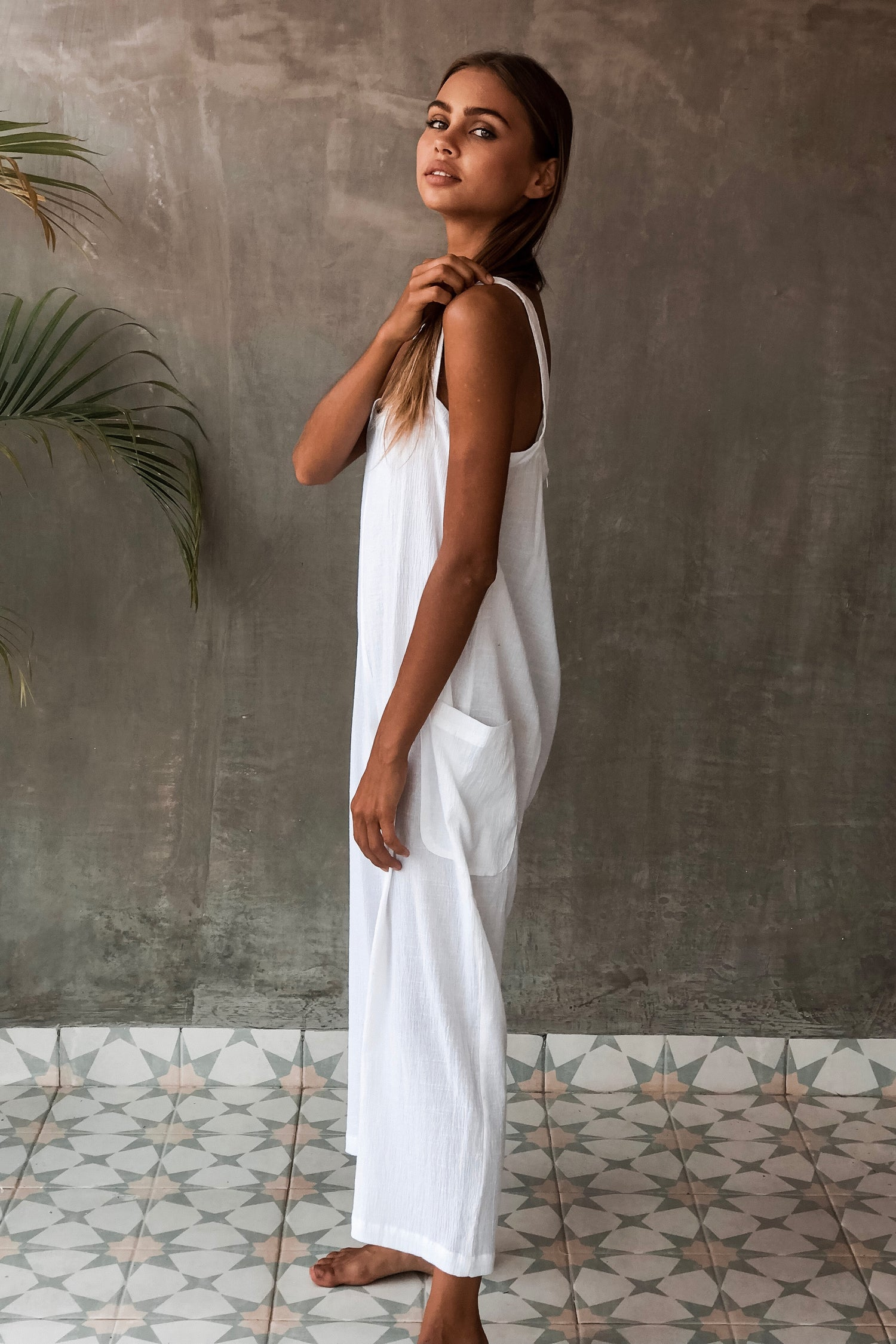 Image of MAYAN JUMPSUIT - WHITE