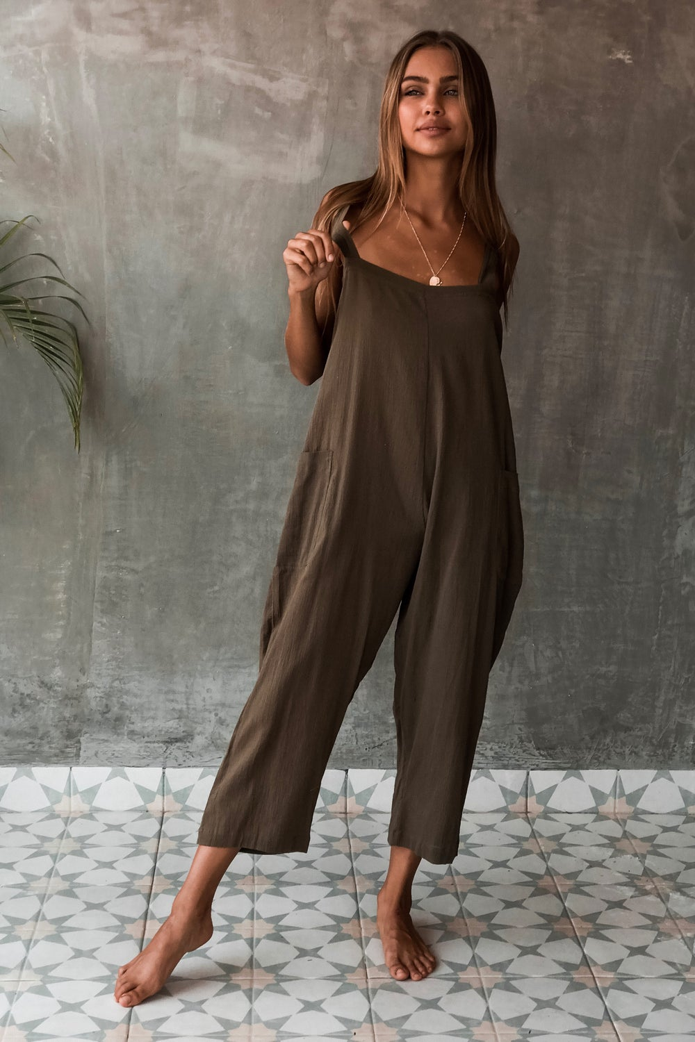 Image of MAYAN JUMPSUIT - OLIVE
