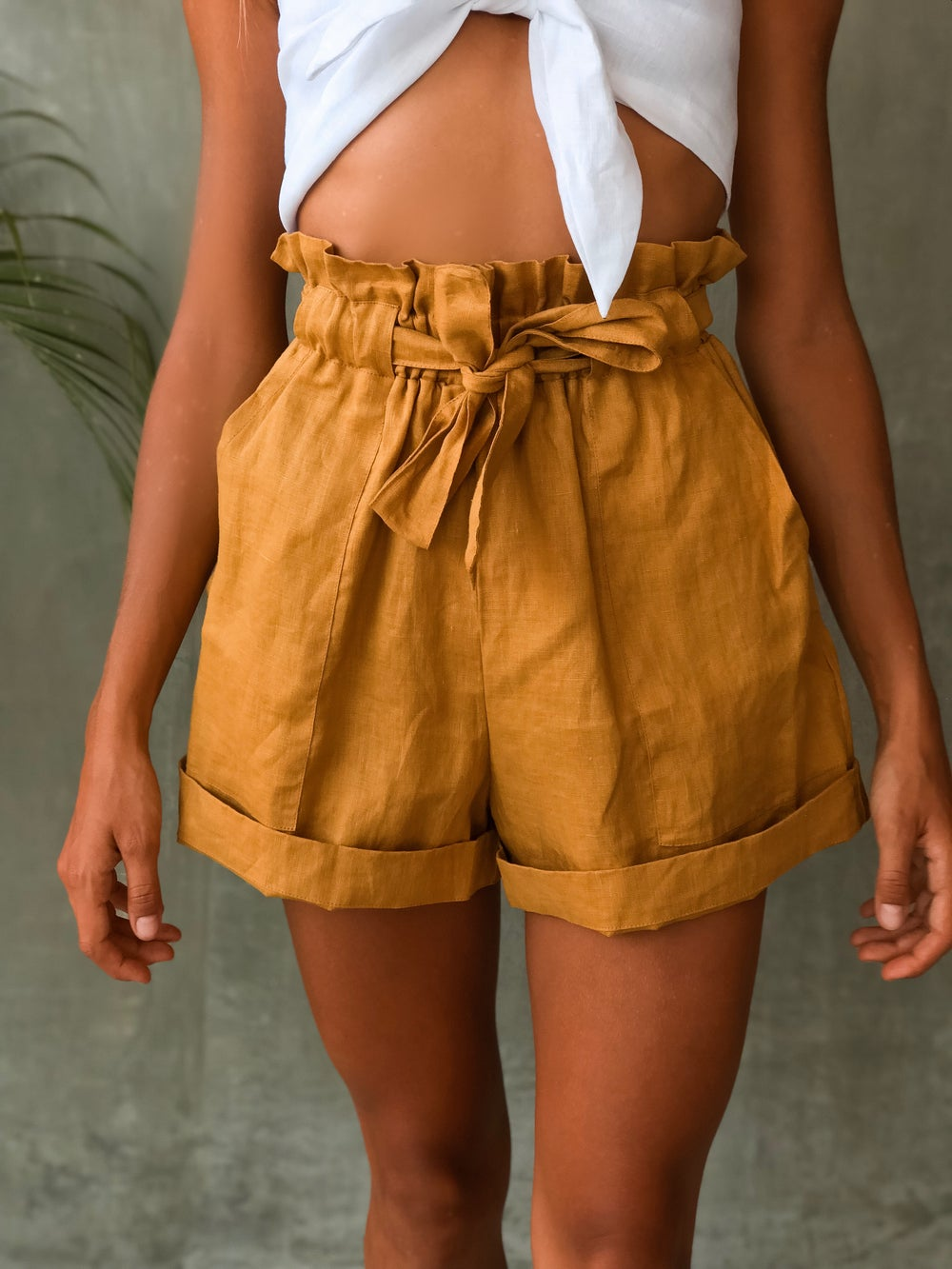 Image of RIVER SHORTS - GOLD